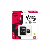 TARJETA MICROSD HC - 32GB + ADAPTADOR KINGSTON CANVAS SELECT - CLASE 10 - 80MB/S