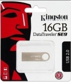 PENDRIVE KINGSTON DATATRAVELLER SE9 16GB USB 2.0 CUBIERTA DE METAL PLATA