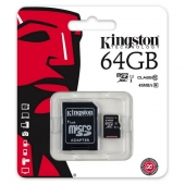 TARJETA MICROSD XC - 64GB + ADAPTADOR KINGSTON CANVAS SELECT - CLASE 10 - 80MB/S