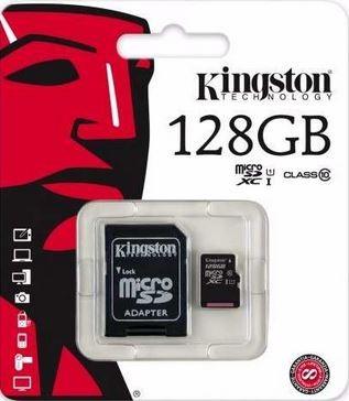Tarjeta MicroSD Kingston Micro SDHC 128GB  Clase 10