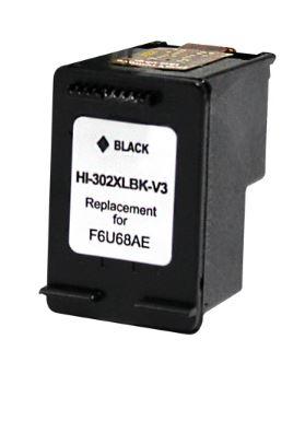HP 302XL V3 NEGRO CARTUCHO DE TINTA REMANUFACTURADO F6U68AE/F6U66AE (MUESTRA NIVEL DE TINTA)