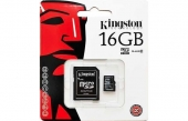 TARJETA MICRO SD KINGSTON 16GB CLASE10 + ADAPTADOR SD